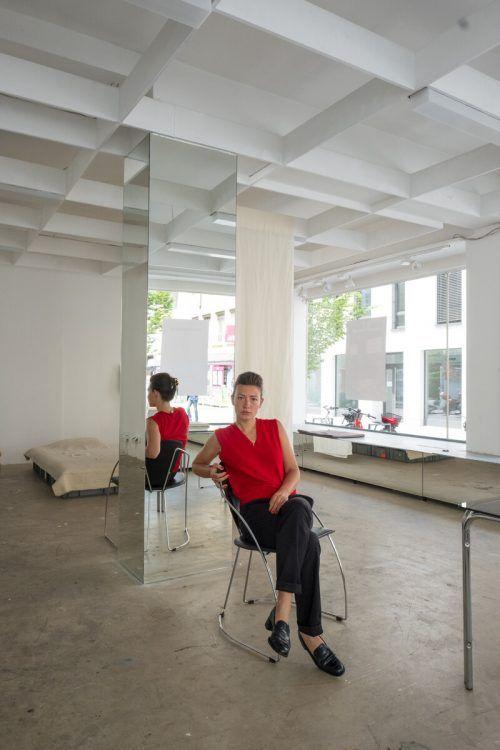 """Hanna Burkart bewohnt derzeit die """"Living in Bregenz Agency"""".Burkart"""