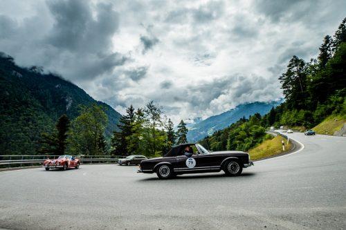 Historische Fahrzeuge sind im Rahmen der 23. Silvretta Classic Rallye an den kommenden drei Tagen im Montafon unterwegs.Motor Presse Stuttgart