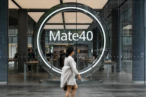 Huawei-Flagshipstore in der chinesischen Millionenstadt Shenzhen. AFP
