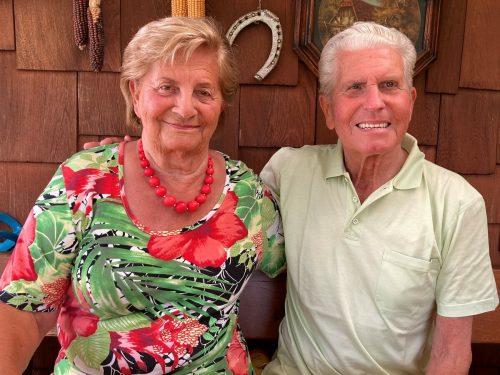 In ihrer Laube verbringen Helene und Kurt Nußbaumer gerne die Nachmittage. kl