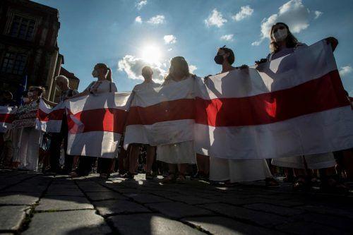 In Prag und anderen Städten Europas protestieren Aktivisten gegen den belarussischen Machthaber.AFP