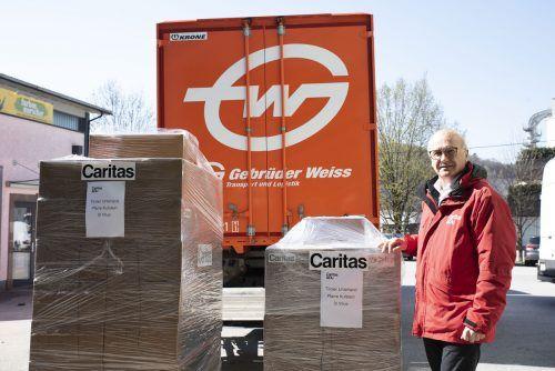 Johannes Dines, Direktor der Caritas Salzburg, freut sich über die Unterstützung. FA