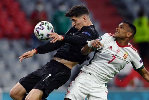 Kai Harvetz erzielte per Kopf, im Duell mit Ungarns Négo den ersten Treffer für Deutschland und schaffte so den ersten Ausgleich im Spiel.Reuters