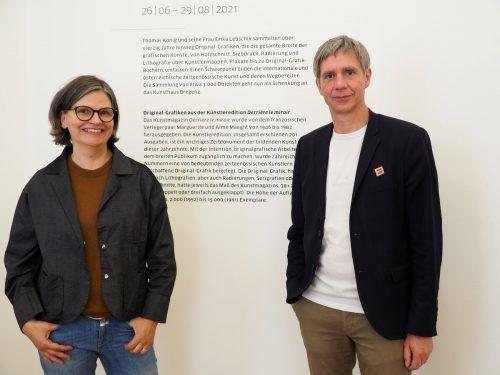 Karin Guldenschuh (KUB Freunde) und KUB-Direktor Thomas D.Trummer.
