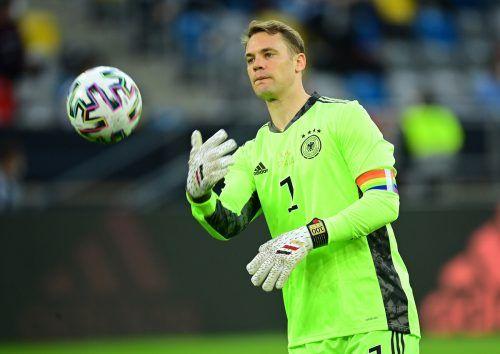 Kaum Arbeit gab es für Torhüter Manuel Neuer in seinem 100. Länderspiel.gepa