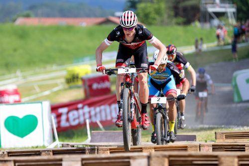 Kilian Feurstein auf dem Weg zu ÖM-Bronze in der Elimination.GEPA