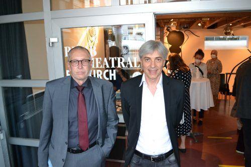 Philosoph Konrad Paul Liessmann mit Organisator Peter Bilger.Bischof