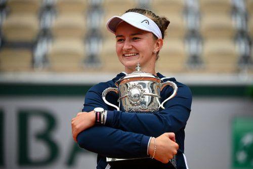 Krejcikova ist die sechste Debütsiegerin im Dameneinzel in Roland Garros in Folge.AFP