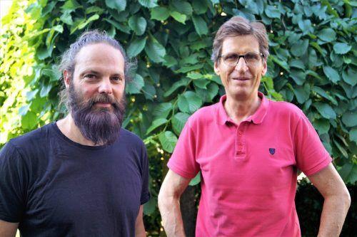 Künstler Peter Wehinger und Kunstfotograf Günter König.