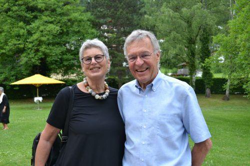 Künstlerin Heidi Comploj und Georg genossen das Konzert.