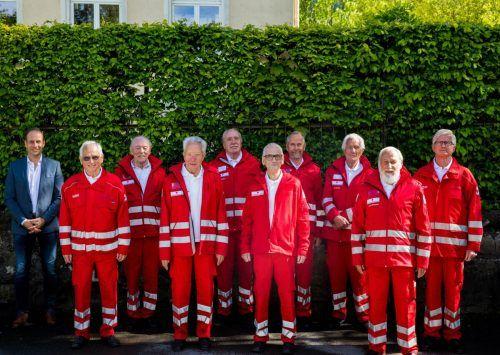 Kürzlich wurden die Gründungsmitglieder der Hohenemser Rettungsabteilung geehrt.mima