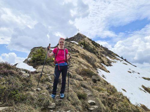 Kurz vor dem Gipfel der Mörzelspitze. Sophia Schultz