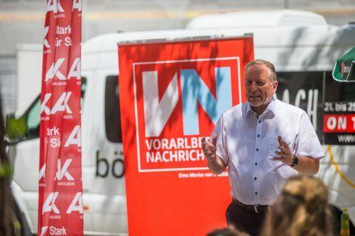 """""""Lesen ist Bildung"""", so AK-Präsident Hubert Hämmerle."""