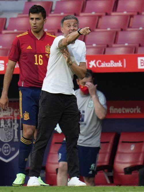 """Luis Enrique zählt Spanien zu den """"sechs, sieben"""" Titelkandidaten.AP"""