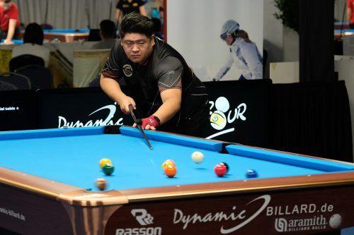 Mario He kürte sich bei den Swiss Open nach Mitternacht zum Turniersieger. ÖBU