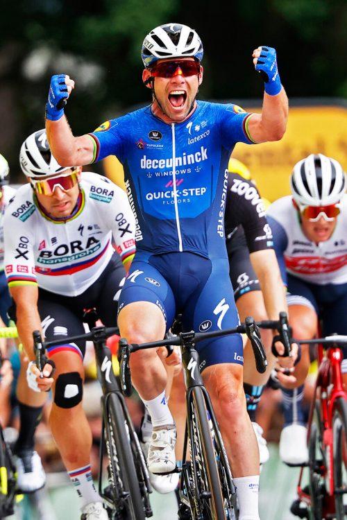 Mark Cavendish feierte seinen 31. Etappensieg bei der Tour de France.apa
