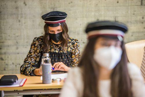 Schriftliche Matura mit Maske. Diese Zeiten sind hoffentlich vorbei. VN/PS