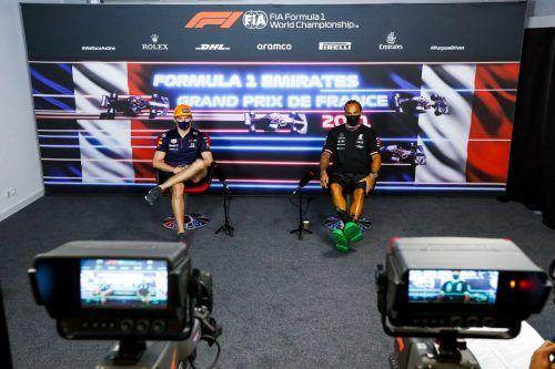 Max Verstappen und Lewis Hamilton stehen vor dem Grand Prix in Le Castellet im Fokus.apa