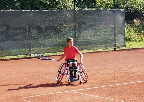 Maximilian Taucher geht bald beim Turnier der Wheelchairtennis Tour Austria in Dornbirn an den Start.mima