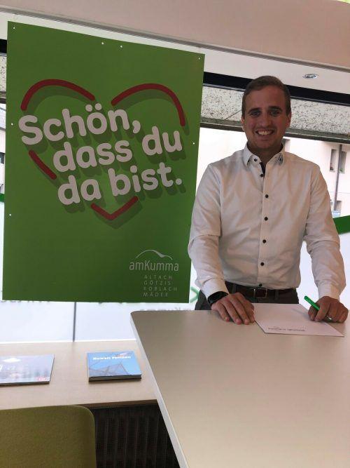 Michael Sochor ist neu im Team der Wirtschaft amKumma und der Wirtschaftsgemeinschaft Götzis.WIGE