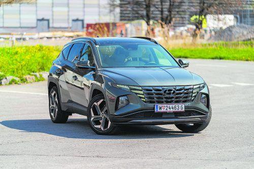Mit markantem Kühlergrill ist der neue Hyundai Tucson ein Hingucker. Die Gestaltung ist erfrischend modern, das SUV in allen Belangen verbessert.VN/Stiplovsek