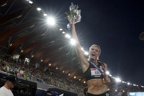Neue amerikanische Meisterin im Siebenkampf: Annie Kunz. ap