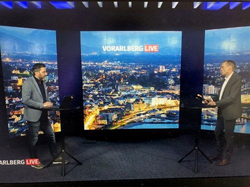 Neuer Landesvolksanwalt Klaus Feurstein stellte sich bei Vorarlberg Live den Fragen von Moderator Pascal Pletsch.VN/walser
