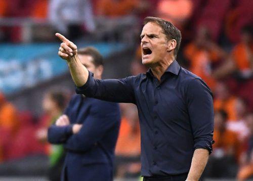 Niederlandes Bondscoach Frank de Boer wird gegen Nordmazedonien auf Rotation setzen und will so Kräfte sparen für das Achtelfinale.reuters