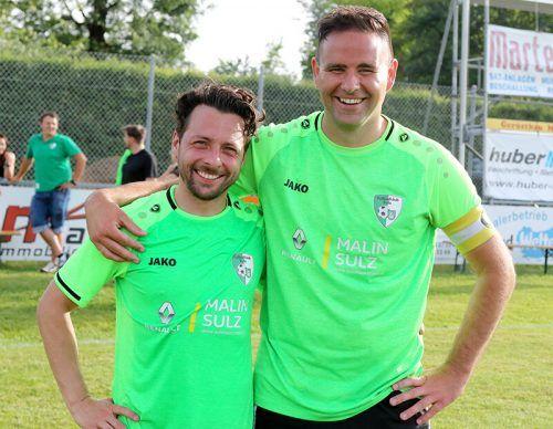 Patrick Egle und Andreas Luif wurden beim letzten Spiel verabschiedet.Franz Kopf
