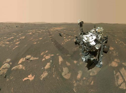 """""""Perseverance"""" soll ein Stück Marsboden in einem ausgetrockneten See erkunden. afp"""