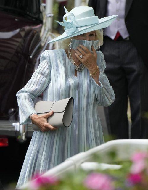 Prinz Charles und seine Frau Camilla waren direkt zu Beginn zu Gast. AP