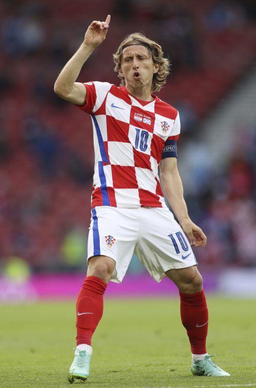 Real-Star Luka Modric dirigierte Kroatien ins Achtelfinale.AFP