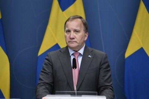 Schwedens Ministerpräsident kündigte seinen Rückzug an. AFP