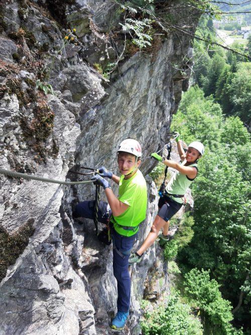 """""""Sicher am Berg""""-Klettersteigkurs in Partenen mit dem Team vom Alpenverein Rankweil. Alpenverein Vorarlberg"""