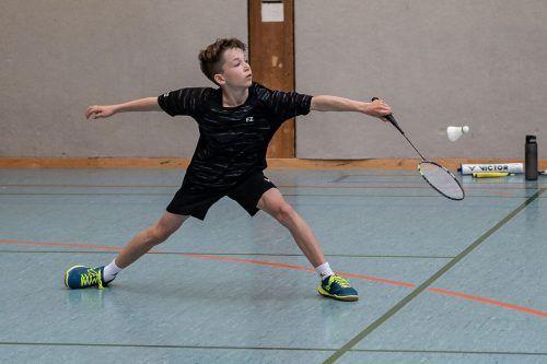 Simon Sutterlütty zeigte beim Badminton-Nachwuchs-Turnier sein Können.