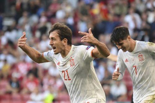 Spaniens Mikel Oyarzabal setzte mit dem Tor zum 5:3-Sieg den Schlusspunkt.ap