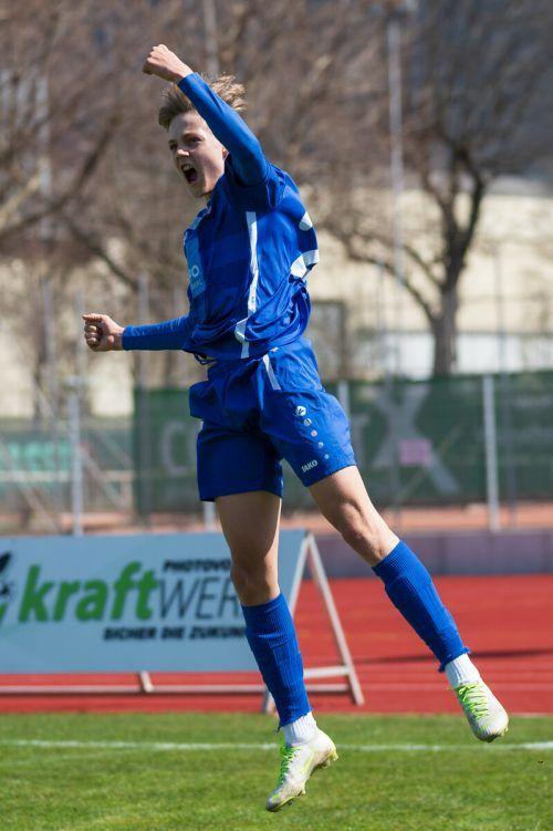 Torschützenkönig Noah Bischof erzielte 18 der 49 Tore der AKA-U-18-Auswahl.VN/DS