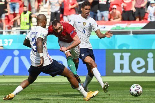 Ungarns Attila Fiola machte mit seinem 1:0 Frankreich Sorgen.apa