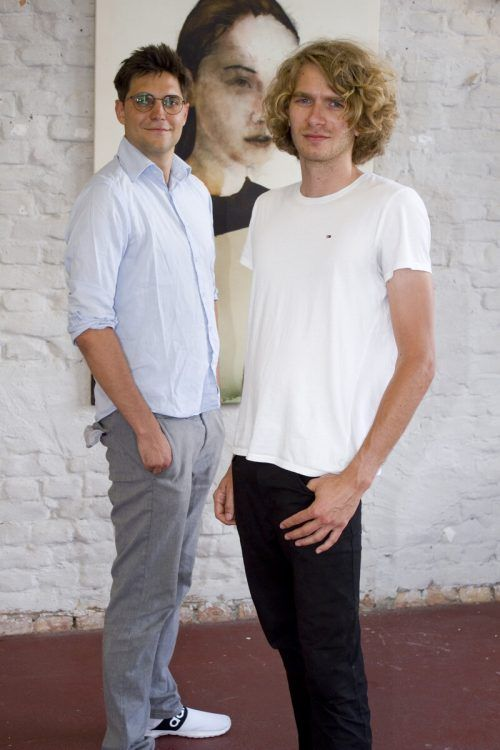 Unter den Besuchern: David Hochfellner (l.) und Mike Malang.