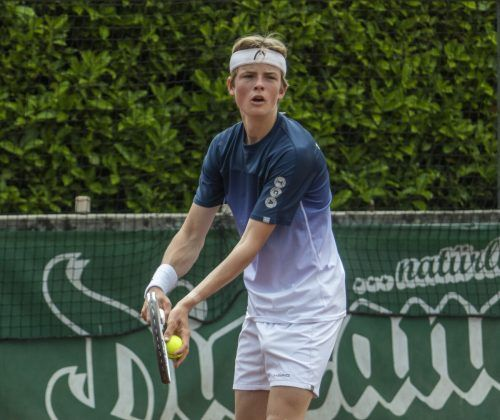 Valentin Werner (17) gewann sein erstes Bundesliga-Einzelspiel.Paulitsch