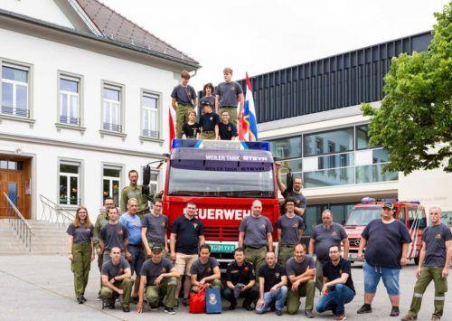 Vergangene Woche wurde der alte Tanklöscher von der Feuerwehr Weiler an die Kollegen aus Cetingrad übergeben. Mäser