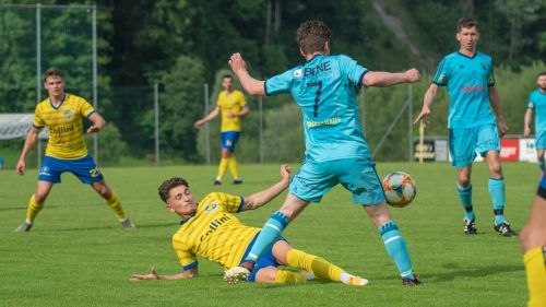Voller Einsatz: Mit 10:0 fegten die Hohenemser den FC Schwarzenberg im VFV-Cup vom Platz.VfB/Wolfgang