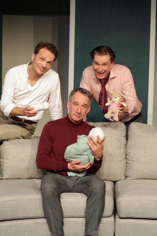 """Von Stetten (M.) gab in der Kulturbühne einen der """"Drei Männer"""". Dietmann"""