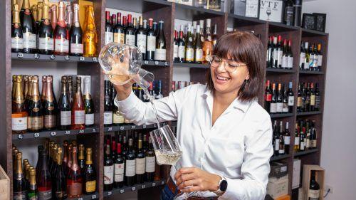 Wenn es um Wein geht, dann ist Cathrin Trost in ihrem Element.