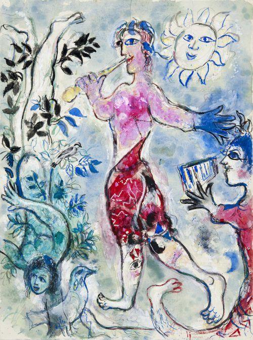 Werke des beliebten Malerpoeten Marc Chagall sind im Kunstmuseum Lindau zu sehen. VG Bild-Kunst, Bonn 2021