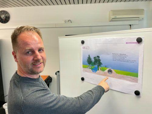 """""""Wir möchten ein enkeltaugliches Vorzeigeprojekt mit Mehrwert für die gesamte Region umsetzen"""", betont Unternehmer Patrik Nickel. VN/Walser"""