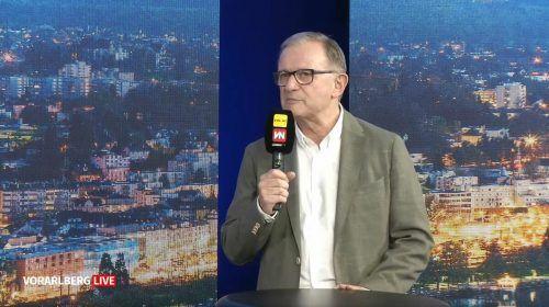 Wirtschaftskammer-Generalsekretär Karlheinz Kopf nahm bei Vorarlberg live am Freitag zur aktuellen Situation am österreichischen Arbeitsmarkt Stellung.VN/Rauch