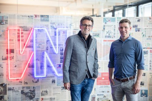 Zu Besuch in der VN-Redaktion: Ex-Skirennläufer und Aufsichtsrat Benni Raich und Aufsichtsratschef Gerhard Burtscher.VN/Sams