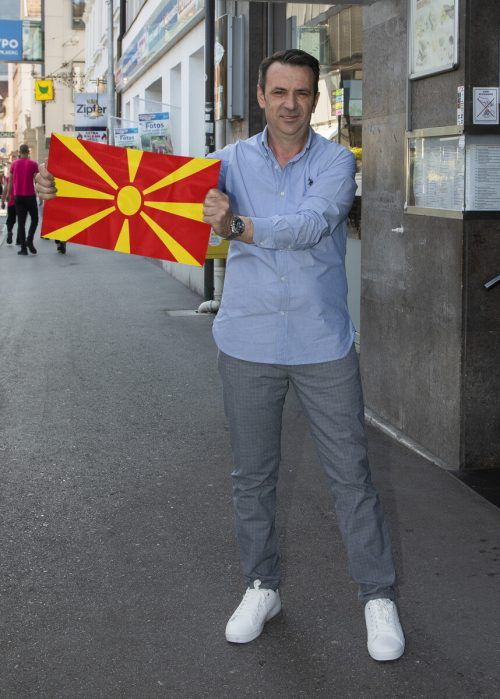 Zulbehar Zulbeari fiebert dem morgigen Match zwischen seiner alten und seiner neuen Heimat entgegen. Sein Herz wird für Nordmazedonien schlagen. VN/Paulitsch