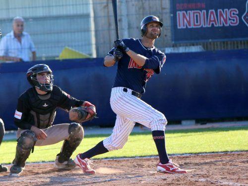 13 Hits verzeichneten die Schlagmänner der Indians im ersten Spiel, für den Sieg reichte es dennoch nicht. Erst im zweiten Match gewann Dornbirn.cth